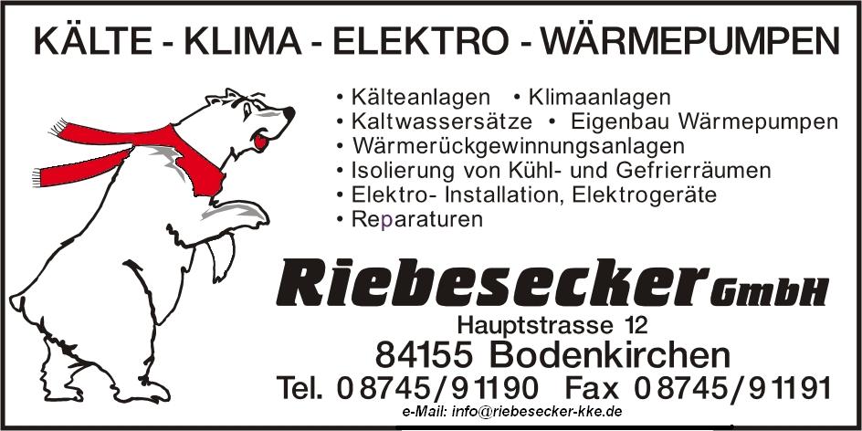 Logo Riebesecker Kälte-Klima-Elektro GmbH